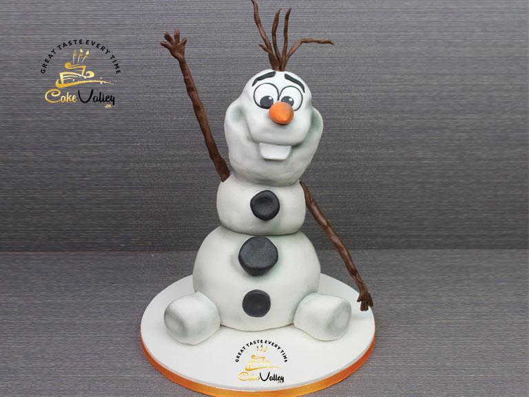 Olaf or Disney's Frozen cake