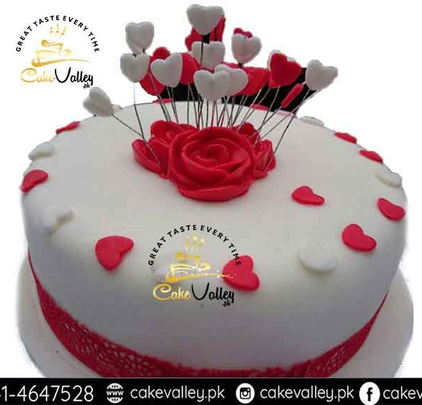 valentine day 3-d cake - online cake order and delivery in lahore, Ideas