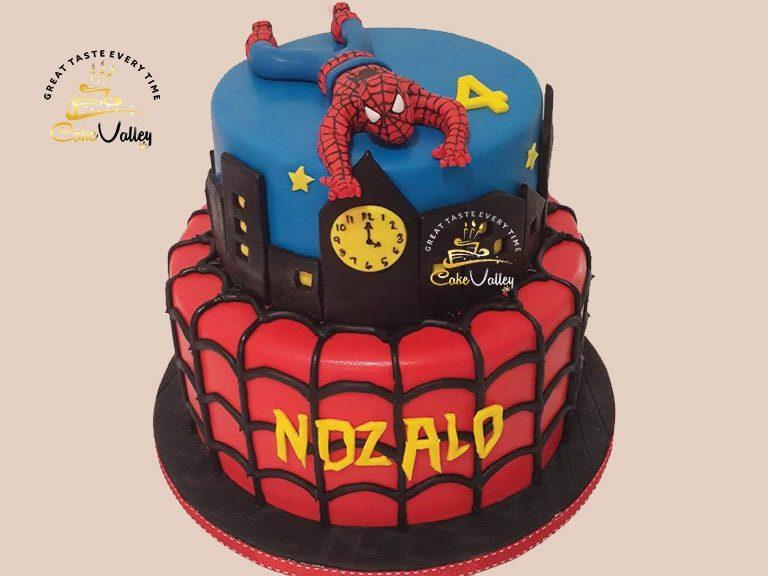 Spider man 3-D cake
