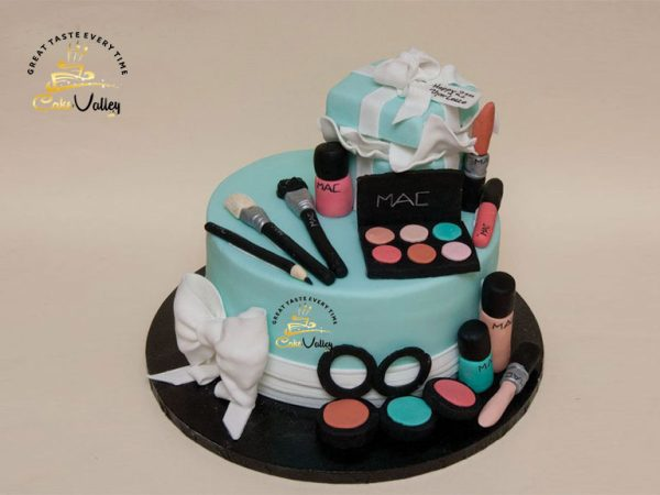 Makeup cakes or Birthday cake with cosmetics