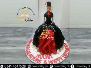Graduation doll Cake
