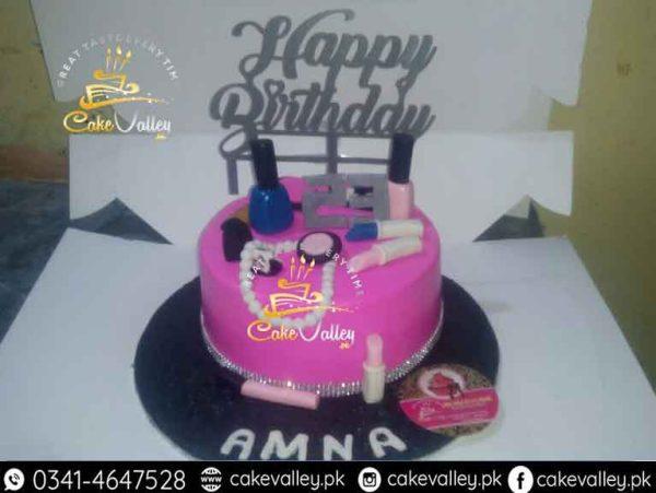 makeup kit cake