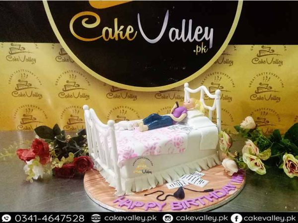 Best Girls Themed Bed Cake - Girls Birthday Cake