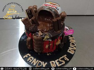 nutella themed cakes - Chocolates Candy Cakes