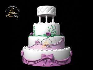 Wedding 3-D Cake Royal Style Cake