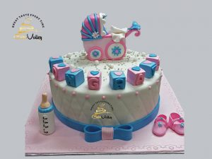 Baby shower cake or Baby Birthday Cake