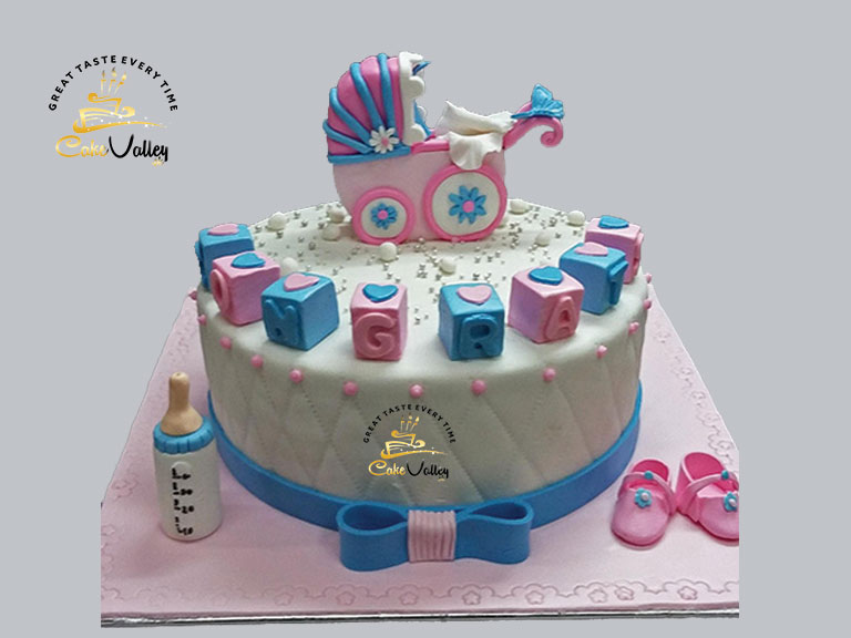 Tremendous Baby Shower Cake Or Baby Birthday Cake Online Cake Order And Funny Birthday Cards Online Sheoxdamsfinfo