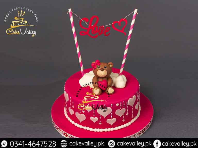 Marvelous Cake For Valentines Day Online Cake Order And Delivery In Birthday Cards Printable Inklcafe Filternl
