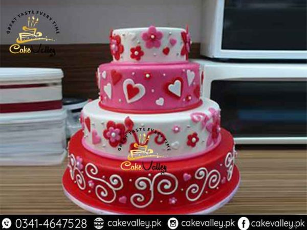 velentine day cake