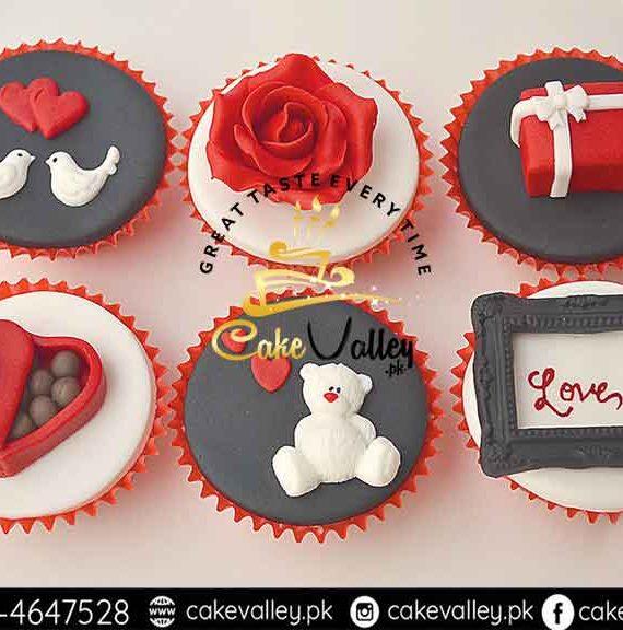 velentine day cupcake