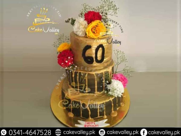Golden theme cake