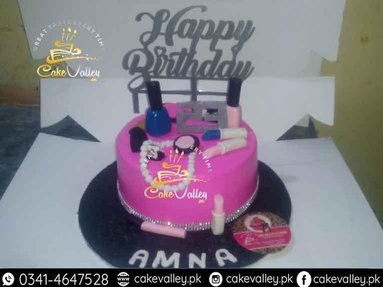 Makeup Kit Cake For Girls - Online cake