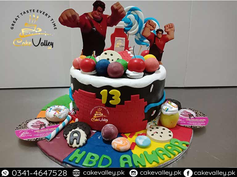 Marvelous Wreck It Ralph Cake Or Baby Birthday Cakes Online Cake Order And Funny Birthday Cards Online Sheoxdamsfinfo