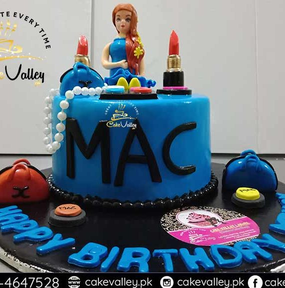 Make up kit cake design Birthday cakes for Girls