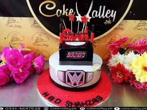 WWE theme birthday cakes at Cakevalley.pk