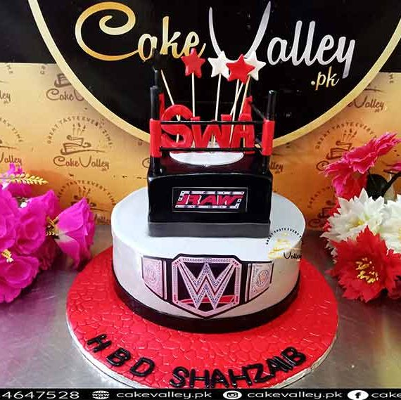 WWE theme birthday cakes at Cakevalley.pk