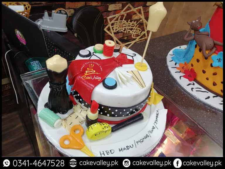 Superb Fashion Designer Cake For Girls In Lahore Pakistan Online Cake Funny Birthday Cards Online Fluifree Goldxyz