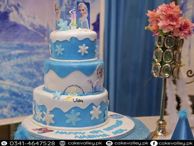 Stupendous Frozen Themed Birthday Cake In Lahore Online Cake Order And Personalised Birthday Cards Paralily Jamesorg