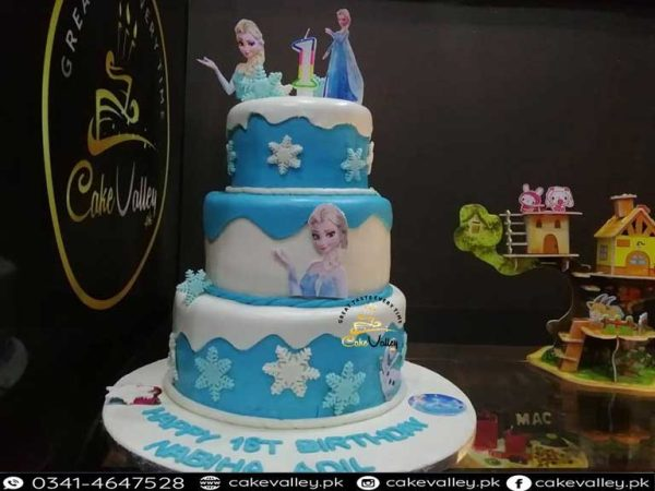 frozen themed birthday cake in lahore