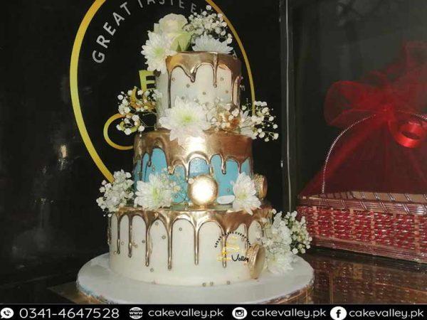 fresh cream wedding cake